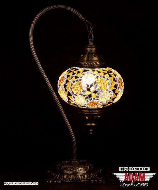 Swan Neck Mosaic Table Lamp (Large)