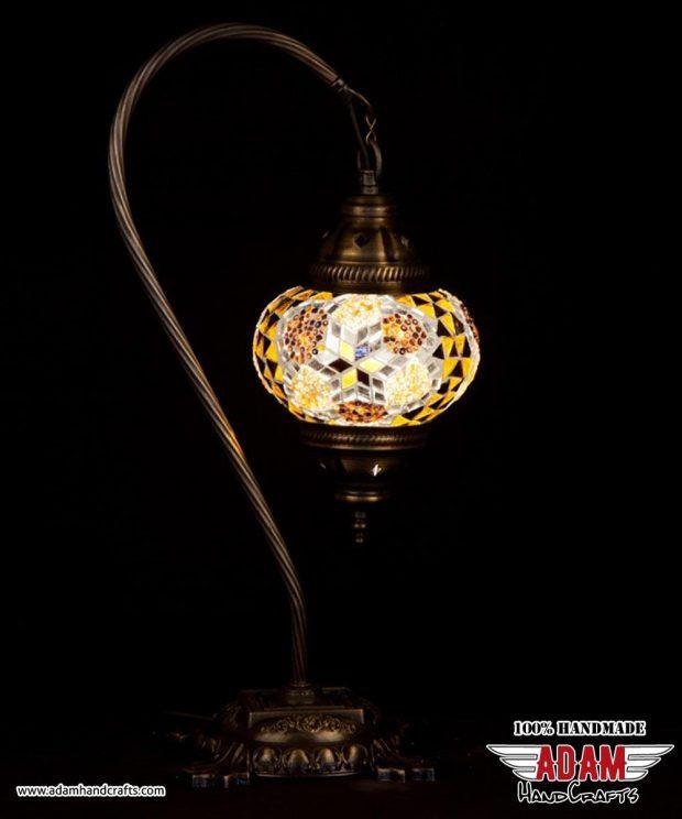 Swan Neck Mosaic Table Lamp (Medium)