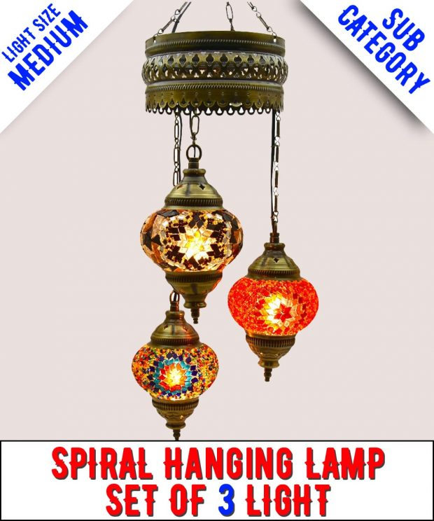 Mosaic Spiral Chandelier Lamps