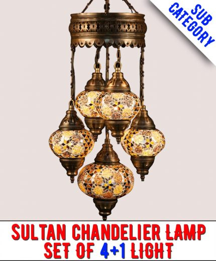 Mosaic Sultan Chandelier Lamps
