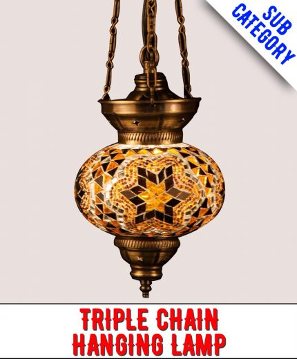 3 Chain Mosaic Hanging Lamp