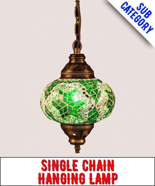 Single Chain Mosaic Hanging Lamp