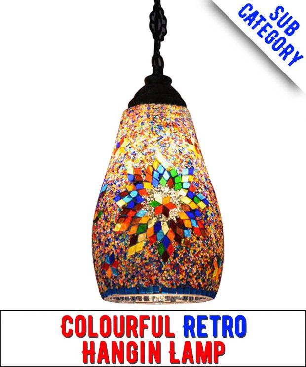 Retro Turkish Mosaic Hanging Lamps
